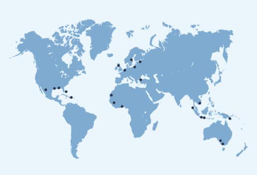 Kartta toimitetuista varavoimakoneista