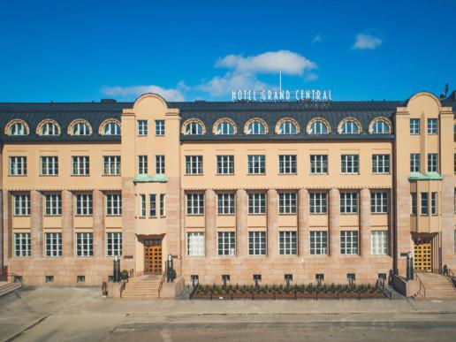 Scandicin hotelli Helsingissä, johon toimitimme varavoimaa